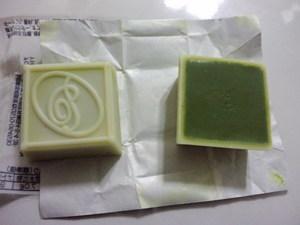 チロルチョコ抹茶パフェ2.JPG