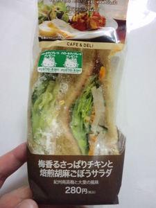 ローソン梅香るさっぱりチキンと焙煎胡麻ごぼうサラダ.JPG